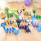 factory price wholesale creative long strip twisty cartoon character double side cable winder