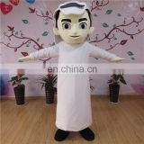Adult sizes customized cartoon character arabian boy mascot costume for sale