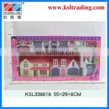 lovely prefab with furniture suit kids plastic toy villa