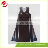 100% polyester sublimation wholesales netball jersey design netball dress