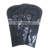 factory custom pvc and non woven hair extensions packaging/newly design human hair extension bag with hanger