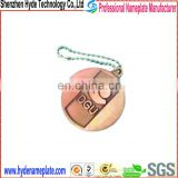 dongguan high quality metal custom logo jewelry tags
