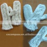 hand knitting glove