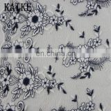 Custom wholesale african velvet 3d flower tulle lace embroidered fabric
