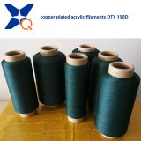 Copper plated CuS acrylic conductive filaments 150D/60F or 150D/80F yarn for anti bacteria socks/beddings-XT11322