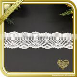 Sewing crocheted neck lace fabric elastic spun lace trim FLL-045