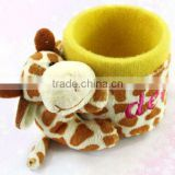 Animal shape plush pen holder toys