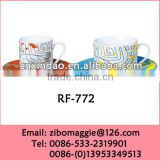 Wholesale Zibo Made Custom Print Porcelain Cofee Cup Saucer for Promotion Gift with Good Quality