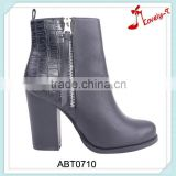 Motocross asian patchwork high ankle boots china high heel wellington boots