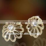 new design antique fashion silver stud earring high quality sterling silver bridal jewelry, paypal acceptable