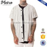Custom Pinstripe Baseball Jersey Shirts in White and Black