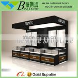 wholesale wooden wall watch display case kiosk for shopping mall
