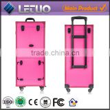 rolling makeup train case makeup artist travel trolley cosmetics case hair salon beauty trolley stylist train case