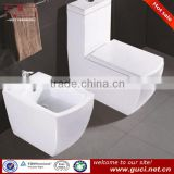Combination toilet square bidet