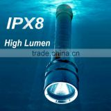 (1500364) LED T6 High Quality 2*18650 Rechargeable Waterproof 18650 Diving Flashlight                                                                         Quality Choice