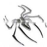 3D Chrome gold color Metal Spider Emblem Chrome Metal Car Truck Motor Auto Decal Sticker