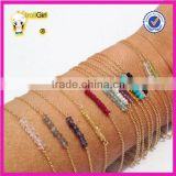 Colorful seed beads handmade 925 silver gold bracelet minimalist jewelry delicate cross chain custom bracelets