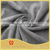 High quality knit poly micro fleece fabric for women's thermal underwear and velvet baby cloth