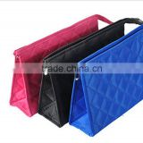 Korean fashion portable cosmetic bag women diamond pattern wash bag XL L M S 4 size                                                                         Quality Choice