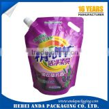 wasing powder packaging film/liquid laundry detergent spout pouch/stand up pouch/plastic wrapper