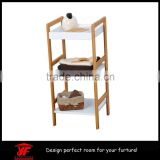 Bathroom Furniture used Tower 3 Shelves bamboo Frame White storage barthroom shelf