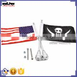 for Harley Sportster XL 883 2004-2016 FLAG-US-SV Sliver Rack Flag Mount Pole USA Flag 1200 Touring Road King Glide&FLHT