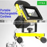 Rechargeable Flood Light Portable LED Floodlight Durable Waterproof Emergency Light Trouble lamp Stand for Car Travel