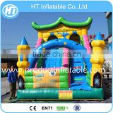 New Design Commercial Inflatable Bouncer Slide,Outside Inflatable Castle Slide ,Colorful Jumping castle