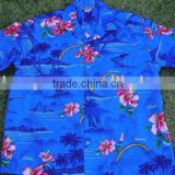 100% viscose tropical design Hawaiian shirts