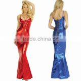 catsuit women mermaid tail Party Evening dress red blue Faux Leather Shiny Wet Look sexy costumes Lady erotic lingerie