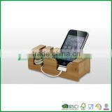 Fuboo Bamboo phone holder desktop business card holder