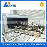 High quality aluminum zinc plate colorful stone coated metal roof tile machines, clay roof tile machine