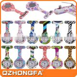 full color printing nurse pin watch, brooch silicone nurse watch                                                                         Quality Choice