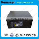 black jewellery safe box for hotel mini fireproof safe box