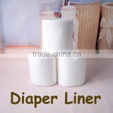 100 sheets/bag Baby Disposable Liners Biodegradable Liners Bamboo Fabric Flushable Nappy Liners