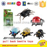 2015 Hot funny insect toy Plastic pull back beetle toys for sale