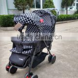 3-position recline for double baby stroller