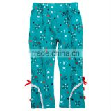 (G3712) green 18-24M Girls printing autumn french terry cargo pants child clothes stocklot