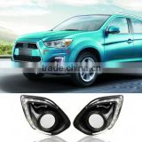 ABS Chrome Case Car 9 LED DRL With Dimmer Function For Mitsubishi ASX 2013 2014 Daytime Running Lights