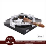 Guangzhou YuJia Wholesale Metal and Wood Cigar Ashtray Square Durable Ashtray with nice box