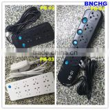 High Quality 5-Way outlet power strip Spike Protector Power Extension Block Strip 3m Cable