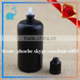 black pe plastic bottle for e liquid bottle with 50ml pe nail polish bottle red child proof and tamper proof cap