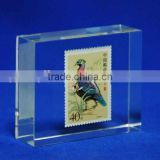Customized clear acrylic block for rubber stamps and paperweight