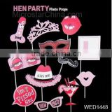 12pcs Hen Party Photo Booth Props funny lip glasses hat photo props kit Bachelorette Party decoration supplies Hen party favor