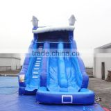 GMIF New design giant inflatable slide on sale, giant inflatable dinosaur amusement park