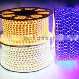 Led White Light High Brightness 5050/28355730 Led Strip Light 100m/Reel Lightning Lamp Led Flat Rope Light Ac 230v Waterproof