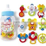 9 pcs fancy feeding-bottle baby rattle toys baby hand bell baby toys
