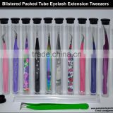 Volume Lash Tweezers In Tube Packaging, Eyelash Extension Tweezers In Tube Packaging