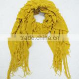 2014 wholesale winter hot fashion knitted scarf,Yellow acrylic scarf,Fashion accessories