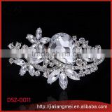 Crystal Brooch vintage style Silver wedding corsage for broach bouquets